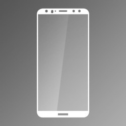 Ochranné sklo Q sklo Huawei Mate 10 Lite biele, fullcover, 0,33mm