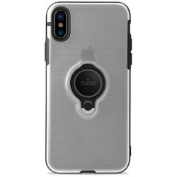 Puro Magnet Ring Cover case for iPhone X transparent