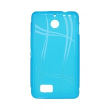 Puzdro Well Lines Sony Xperia E1, svetlomodré