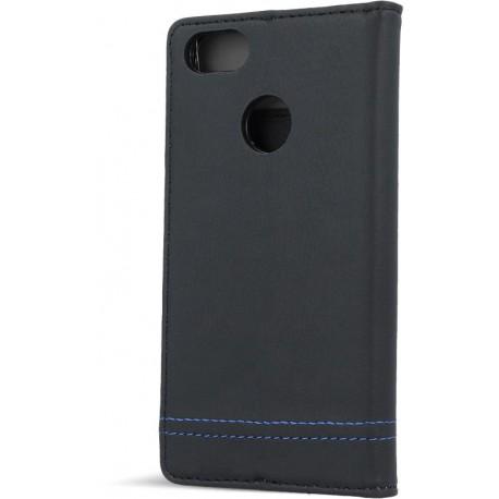 Smart Focus case for Samsung J3 2016 J320 black with blue thread