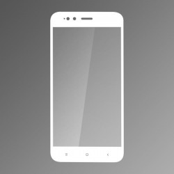 Ochranné sklo Q sklo Xiaomi Mi A1 biele, fullcover, 0,33mm
