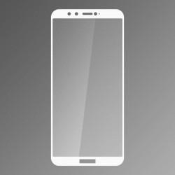 Ochranné sklo Q sklo Huawei Honor 9 Lite biele, fullcover, 0,33 mm