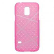 Gumené puzdro Bubble Samsung Galaxy S5 mini, ružové