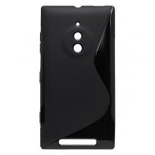 Gumené puzdro S-Line Nokia Lumia 830, čierne