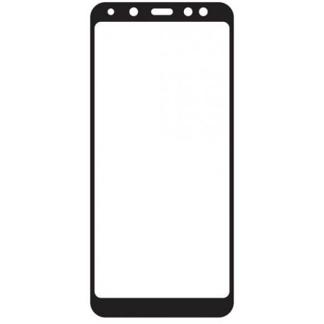 Tvrdené sklo 3D Q sklo Samsung Galaxy A8 2018, čierne