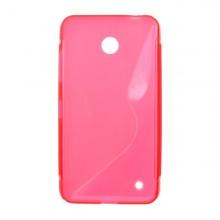Gumené puzdro Nokia Lumia 635, ružové