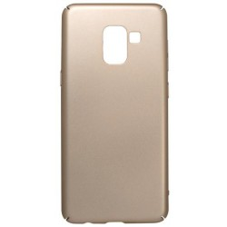 Plastové puzdro Samsung Galaxy A8 2018 zlaté, hladké