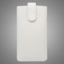 Kožená vsuvka s vyťahovaním, Samsung Galaxy Note 2, biela