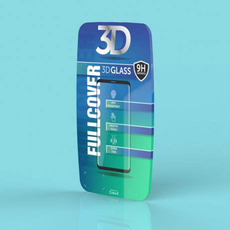 Tvrdené sklo 3D Q sklo Samsung Galaxy S9, čierne
