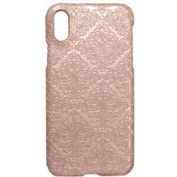 Plastové puzdro Tapeta iPhone X ružové