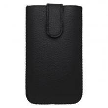 Kožená vsuvka iPhone 6 Plus, čierna