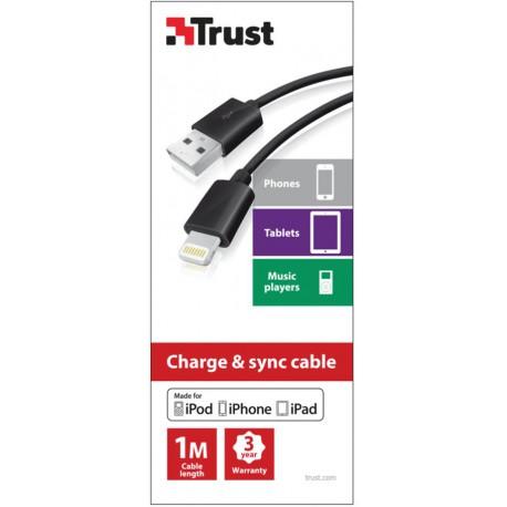 TRUST Lightning Cable 1m - black