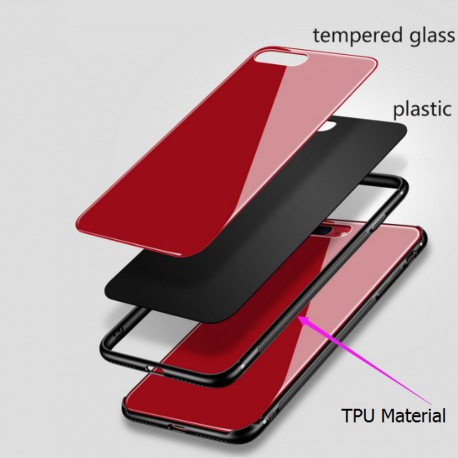 Beeyo Glass case for Samsung A5 2017 A520 red