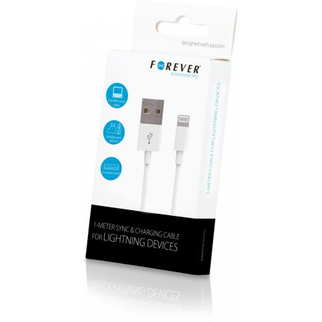 Forever for iPhone 8-PIN cable 3m white