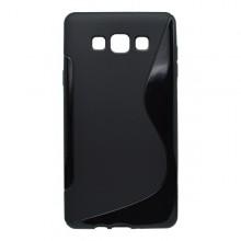 Gumené puzdro S-Line Samsung Galaxy A7, čierne