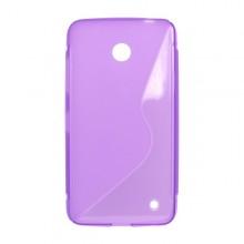 Gumené puzdro Nokia Lumia 635, fialové
