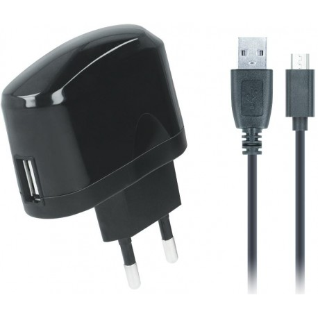 USB wall charger 2A + micro kable black SETTY