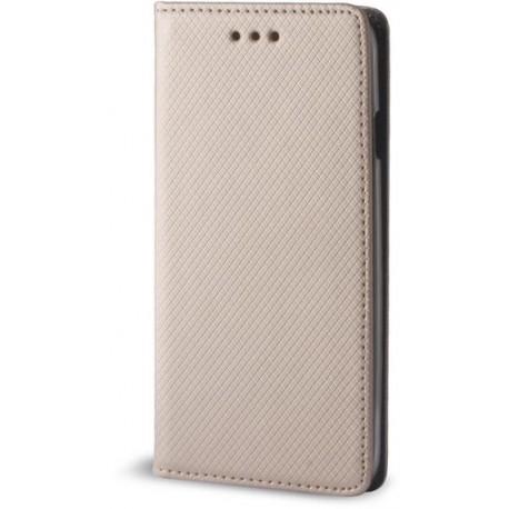 Smart Magnet case for Motorola Moto C Plus gold
