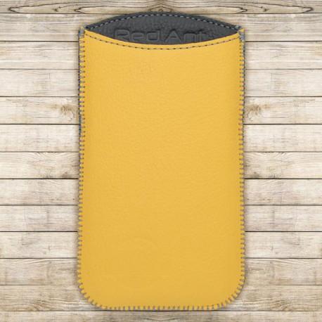 Kožená vsuvka Spring, veľkosť XL, žltá, sivé vnútro