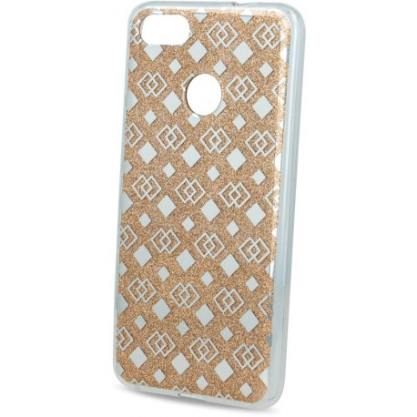 Fashion Glitter Square case for Huawei P9 Lite mini gold
