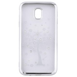 Beeyo Diamond Tree case for Samsung A8 2018 A530 silver