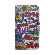 Vzorované knižkové puzdro Samsung Galaxy J5, vzor texty