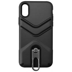 Outdoorové puzdro so šnúrkou iPhone X čierne