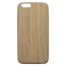 Gumené puzdro iPhone 6, svetlé drevo