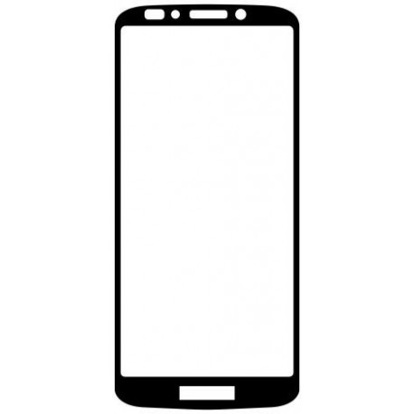 Ochranné Q sklo Moto G6 Play čierne, fullcover