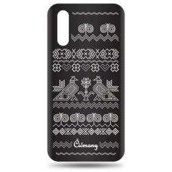 Vzorované gumené puzdro Huawei P20 čierne, vzor Čičmany