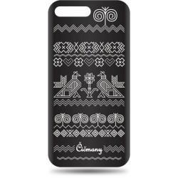 Vzorované gumené puzdro Huawei Y6 2018 čierne, vzor Čičmany