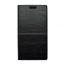 Knižkové puzdro Luxury Samsung Galaxy S6 Edge, čierne