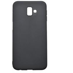 Matné gumené puzdro Samsung Galaxy J6 Plus čierne