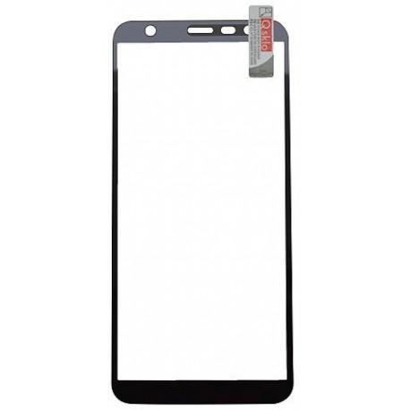 Ochranné Q sklo Samsung Galaxy J6 Plus čierne, fullcover, 0.33 mm