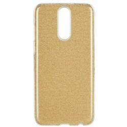Trblietkavé silikónové púzdro na Huawei Mate 20 Lite - zlaté
