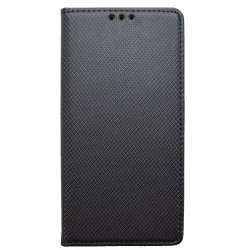 Knižkové puzdro Nokia 7.1 čierne, vzorovaný povrch