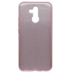 Silikónové puzdro Crystal Huawei Mate 20 Lite ružové, nelepivé