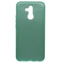 Silikónové puzdro Crystal Huawei Mate 20 Lite zelené, nelepivé