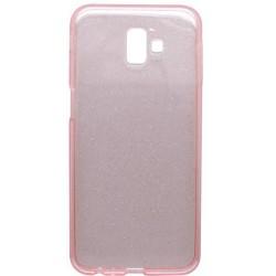 Silikónové puzdro Crystal Samsung Galaxy J6 Plus ružové, nelepivé
