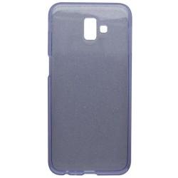 Silikónové puzdro Crystal Samsung Galaxy J6 Plus fialové, nelepivé