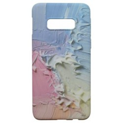 Plastové puzdro Creative Samsung Galaxy S10e ružovo-žlté