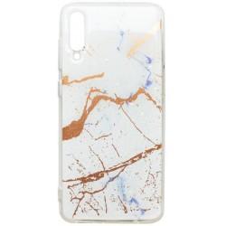 Gumené puzdro Mramor Samsung Galaxy A70 biele