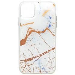 Gumené puzdro Mramor iPhone 11 biele