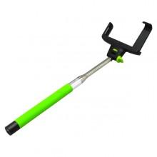Zelená bluetooth selfie tyč, teleskopická