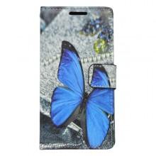 Vzorované knižkové puzdro Huawei P9 Lite, vzor motýľ