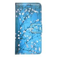 Vzorované knižkové puzdro Samsung Galaxy J5 2016, modré, vetvičky