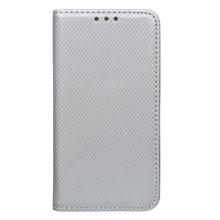 Bočné knižkové puzdro (obal) Huawei Y5 II, strieborné, metalické