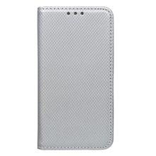 Bočné knižkové puzdro (obal) Huawei Y3 II, strieborné, metalické
