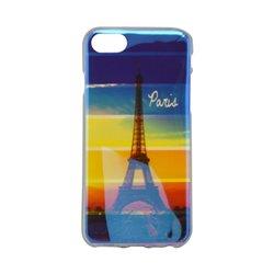 Vzorované gumené puzdro / obal iPhone 7, Paríž, , iPhone 7