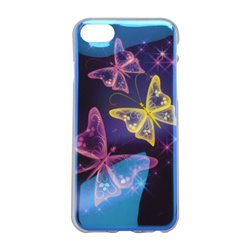Vzorované gumené puzdro / obal iPhone 7, motýle, , iPhone 7
